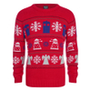 Doctor Who Dalek Snowflake Christmas Jumper - Red: Image 1