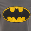 DC Comics Men's Batman Distressed Logo T-Shirt - Charcoal: Image 5