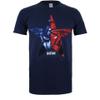 Marvel Men's Captain America Civil War Broken Star T-Shirt - Navy: Image 1