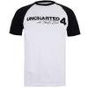 Uncharted 4 Men's Logo Raglan T-Shirt - White/Black: Image 1