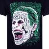 DC Comics Men's Suicide Squad Joker Head T-Shirt - Black: Image 2