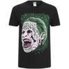 DC Comics Men's Suicide Squad Joker Head T-Shirt - Black: Image 1