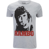 Rambo Men's Face T-Shirt - Grey Marl: Image 1