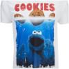 Cookie Monster Men's Shark Cookie Monster T-Shirt - White: Image 3