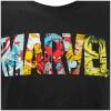 Marvel Men's Comic Strip Logo T-Shirt - Black: Image 5