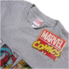 Marvel Men's Comic Strip Logo T-Shirt - Sports Grey: Image 2