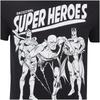 DC Comics Men's Original Superheroes T-Shirt - Black: Image 5