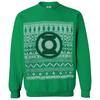 DC Comics Men's Green Lantern Christmas Fairisle Sweatshirt - Green: Image 1