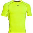 Under Armour Men's Armour Heat Gear Short Sleeve Training T-Shirt - Yellow/Graphite