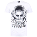 DC Comics Men's Suicide Squad Harley and Joker Cards T-Shirt - White