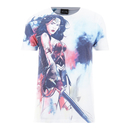 DC Comics Men's Wonder Woman Stencil T-Shirt - White