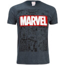 Marvel Men's Mono Comic T-Shirt - Dark Heather