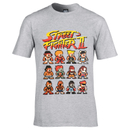 Capcom Street Fighter Men's Street Fighter II T-Shirt - Grey