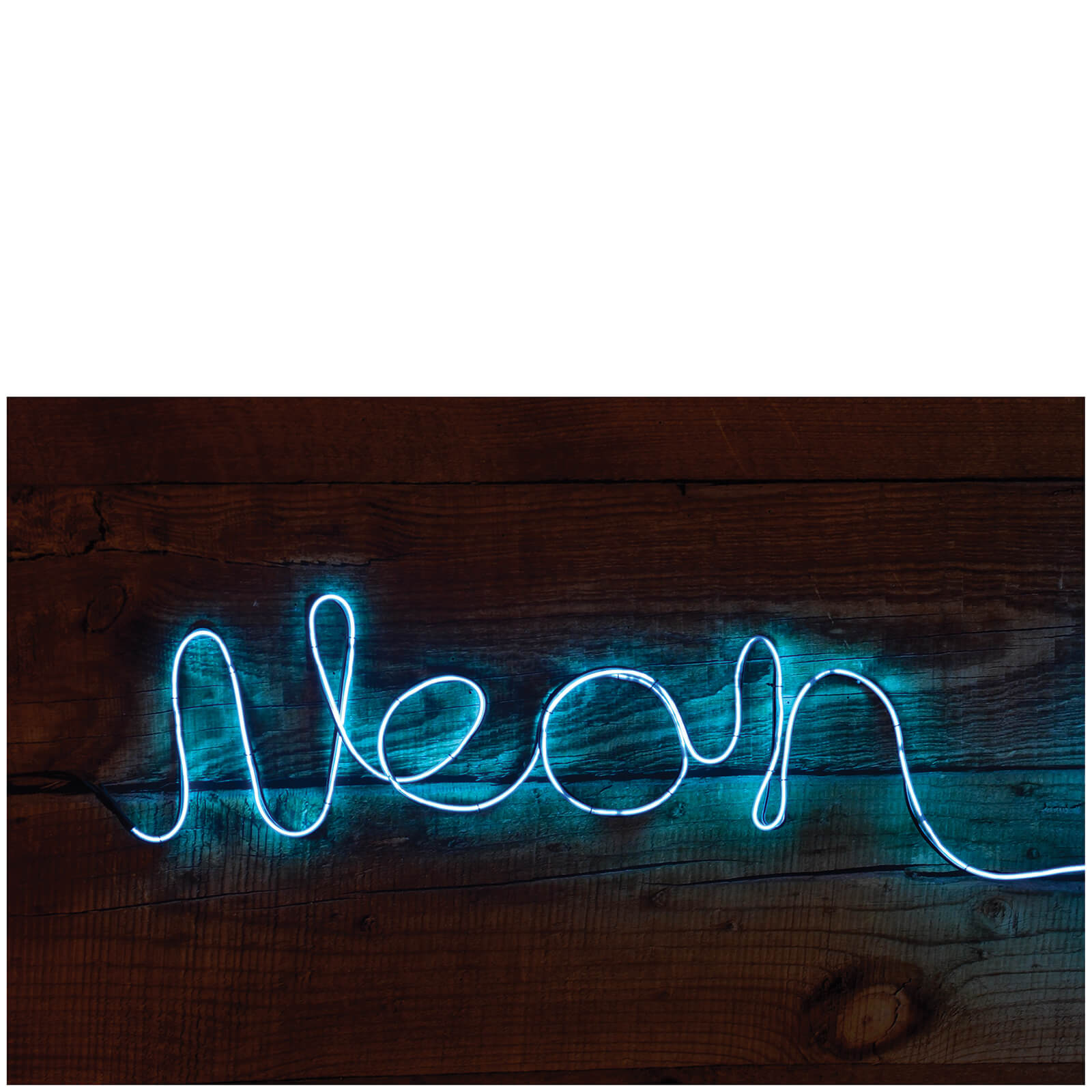 Make Your Own Neon Effect Sign Blue Iwoot