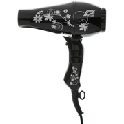 Parlux 3200 Flowers Hair Dryer - Black/Silver