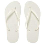 Havaianas Women's Slim Flip Flops - White