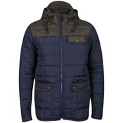 Brave Soul Men's Swansea Padded Jacket - Navy/Khaki