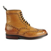Grenson Men's Fred Brogue Boots - Tan