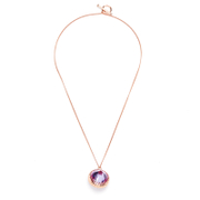 Katie Rowland Women's Orb Statement Pendant Necklace - 18 Carat Rose Gold