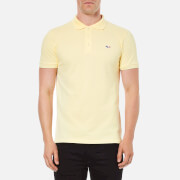 Maison Kitsuné Men's Tricolore Patch Cotton Polo Shirt - Yellow
