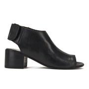 H Shoes by Hudson Women's Iris Peep Toe Heeled Sandals - Black