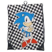 Sega Sonic The Hedgehog Drawstring Sonic Chequred Gymbag