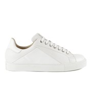 Mr Hare Men's Cunningham Leather Court Trainers - White