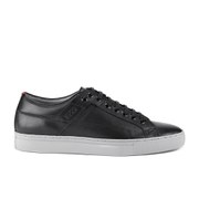 HUGO Men's Futesio Leather Trainers - Black