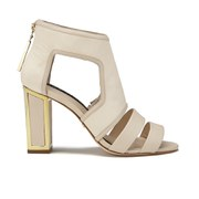Kat Maconie Women's Georgia Leather Cut Out Heeled Sandals - Nude
