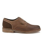 Barbour Men's Cottam Derby Shoes - Dark Tan