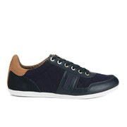 Barbour Men's Waddle Quilted Leather Trainers - Navy