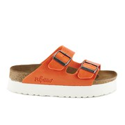 Birkenstock Women's Arizona Slim Fit Double Strap Platform Sandals - Orange