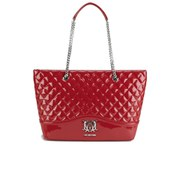Love Moschino Women's Quilted Patent Shopper Bag - Red