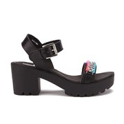 Love Moschino Women's Cleated Platform Sandals - Black