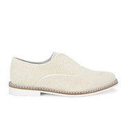 Miista Women's Amy Beaded Sparkle Shoes - Granita Cream