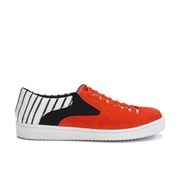 Thakoon Addition Women's Warwick 01 Woven Suede Slip On Trainers - Poppy