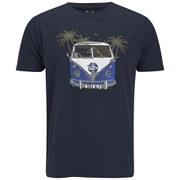 Salvage Men's Graphic Crew Neck T-Shirt - Navy