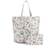 Paul & Joe Sister Dino Printed Shopper Bag - White