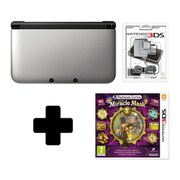 Nintendo 3DS XL Silver/Black Professor Layton & The Miracle Mask Pack