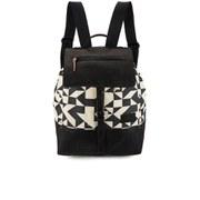Jerome Dreyfuss Men's Dimitri Graphic Fabric Backpack - Black/White