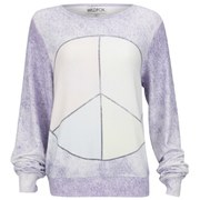 Wildfox Women's Baggy Beach Peace & Tie Dye Jumper - Multi