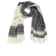 By Malene Birger Women's Antiqua Printed Scarf - Black