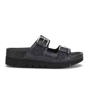 Ash Women's Takoon Double Strap Suede Sandals - Black