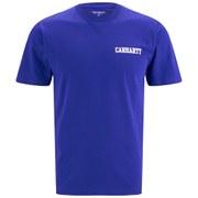 Carhartt Men's College Script T-Shirt - Resolution Blue/White