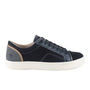 G-Star Men's Augur III Kayvan Leather/Textile Trainers - Navy