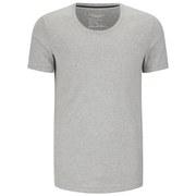 J.Linedberg Men's Axtell Scoop Neck Slim Fit T-Shirt - Light Grey Melange