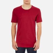 J.Lindeberg Men's Axtell Crew Neck Slim Fit T-Shirt - Red Deep Melange