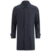 Aquascutum Men's Fergusson Washed Single Breasted Trench Coat - Navy