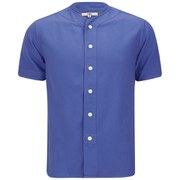 YMC Men's Baseball Shirt - Garment Dyed Royal Blue