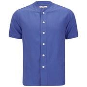 YMC Men's Baseball Shirt - Garment Dyed Royal Blue